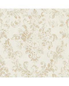 A.S. CREATION NEUE BUDE - tapéta (dombornyomott, fehér-arany)