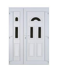 DELTA TEMZE 3 - műanyag bejárati ajtó (kétszárnyú, 140x210, jobb)