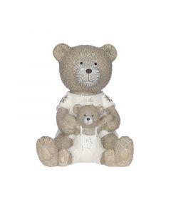 Dekorfigura (medve kis medvével, 16cm)