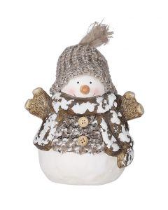 Dekorfigura (hóember, 12cm)