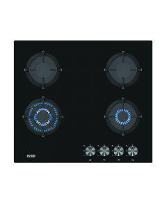 EVIDO MURANO 60B - beépíthető gáz főzőlap (fekete üveglapon)
