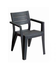 KETER JULIE - kerti szék (grafit, kartámaszos)