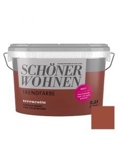 SCHÖNER WOHNEN TREND - beltéri falfesték - terracotta 2,5L