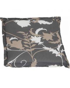 BEO BARCELONA - ülőpárna (40x40x5cm, barna, virágmintás)