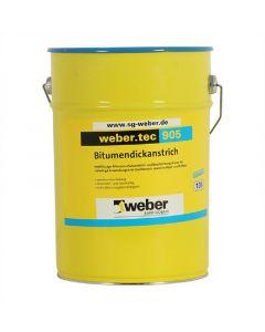WEBER TEC 905 - bitumenes vízszigetelés (oldószeres, 33L)