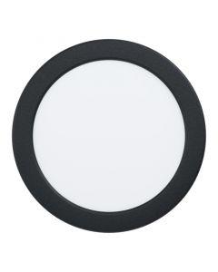 EGLO FUEVA 5 - beépíthető lámpa (LED, Ø16,6cm, fekete, melegfehér)