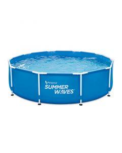 SUMMER WAVES - fémvázas medence (Ø305x76cm, vízforgatóval)