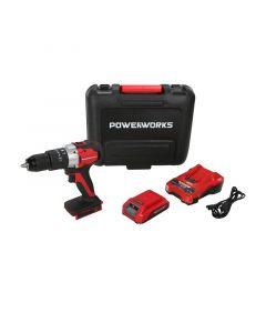 POWERWORKS PD24DD35K2 - akkus fúrócsavarozó készlet (akkuval és töltővel, 24V, 35Nm)