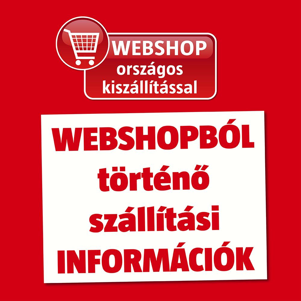 webshop kiszállítás információ